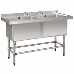 Vogue CF406 1.4m Dual Deep Pot Sink