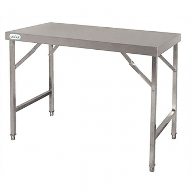 Vogue cb905 stainless steel folding table catering for Sideboard 2 m
