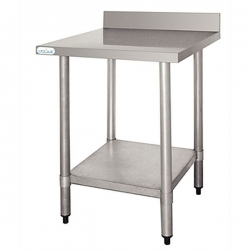 Vogue T382 Stainless Steel W1500 x D600mm Table with Upstand