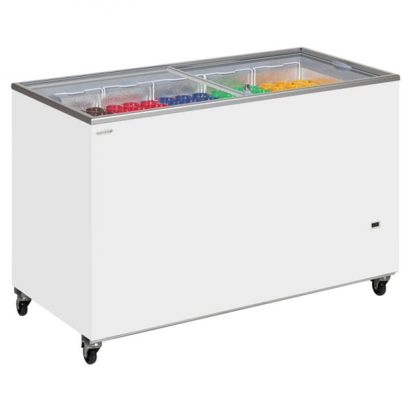 Tefcold Sliding Flat Glass Lid Chest Freezer
