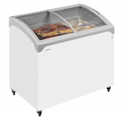 Tefcold NIC200SCEB 0.8m Sliding Curved Glass Lid Chest Freezer