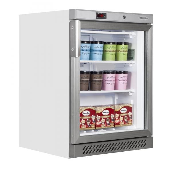 Tefcold UF200G 140 Litre Glass Door Display Freezer