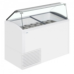 Framec SLANT 510 10 Pan Ice Cream Display Freezer