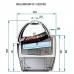 ISA Millennium Ice Cream Display Dimensions