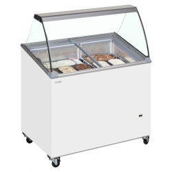 Tefcold IC300SCE 7 Pan Scoop Ice Cream Display Freezer