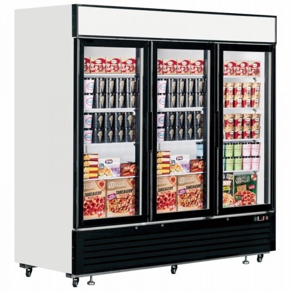 Interlevin LGF7500 Triple Glass Door Display Freezer