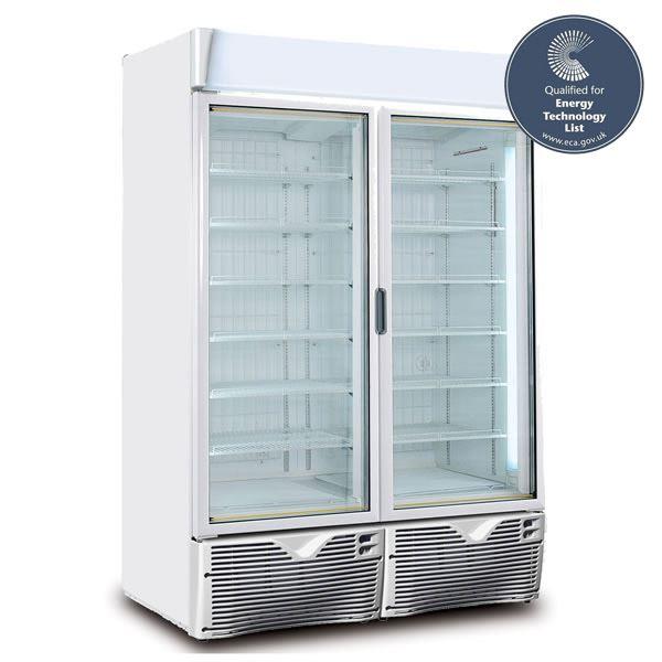 Framec EXPO 1100NV-GE Green Emotion Double Door Display Freezer