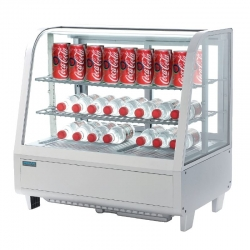 Polar 71 Can Counter Top Refrigerated Merchandiser in White