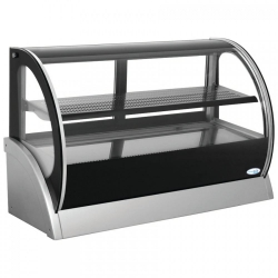 Interlevin S540A 1.2m Curved Glass Chilled Counter Top Display
