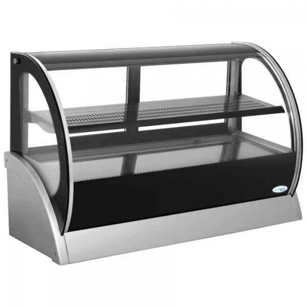 Interlevin S540A Cold Range Curved Glass Counter Top Display