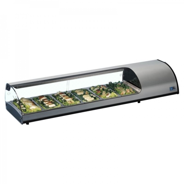Tecfrigo Sushi display topping shelf