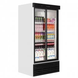 Tefcold FS1002S 800 Litre Double Glass Door Upright Merchandiser