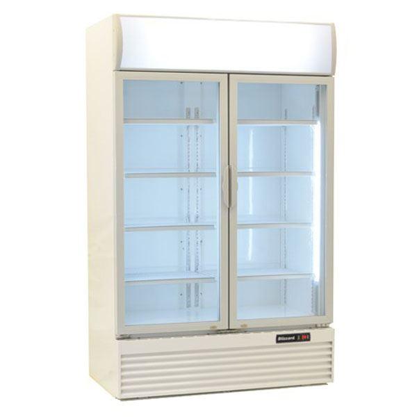Blizzard GD1000 Double Door Refrigerated Merchandiser