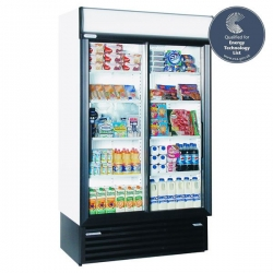 Staycold SD1140 893 Litre Double Sliding Glass Door Display Fridge