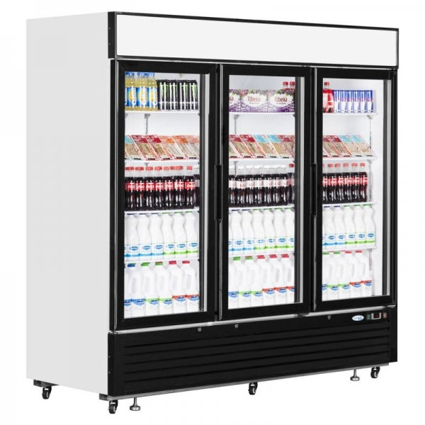 Interlevin LGC7500 Triple Glass Door Merchandiser
