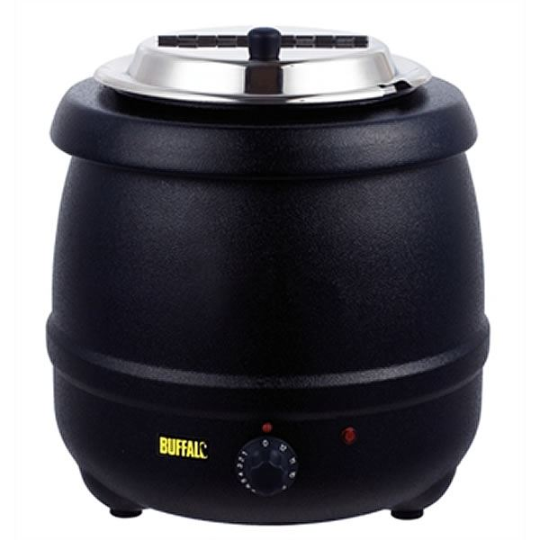 Buffalo 10 Litre Soup Kettle in Black