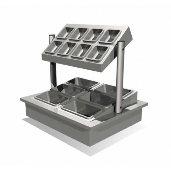 Counterline ICCU3 Integrale Cutlery Condiment Unit