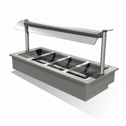 Counterline Integrale IHBM2-GO 0.8m 2 Pan Heated Display Bain Marie