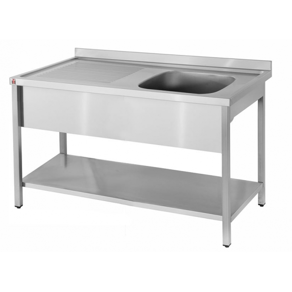 Food Service Sinks : ... Sinks Inomak LA5111R 1.1m Single Bowl Left Hand Drainer Catering Sink