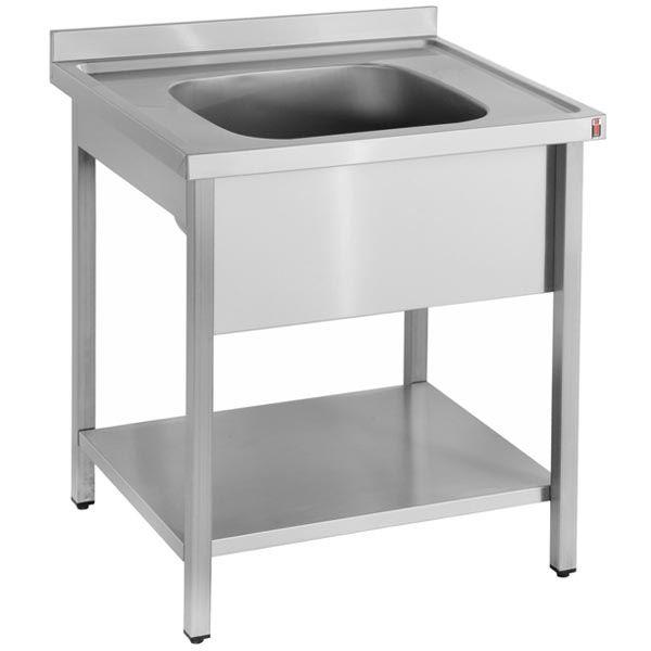 Inomak LA571C 0.7m Single Bowl No Drainer Catering Sink