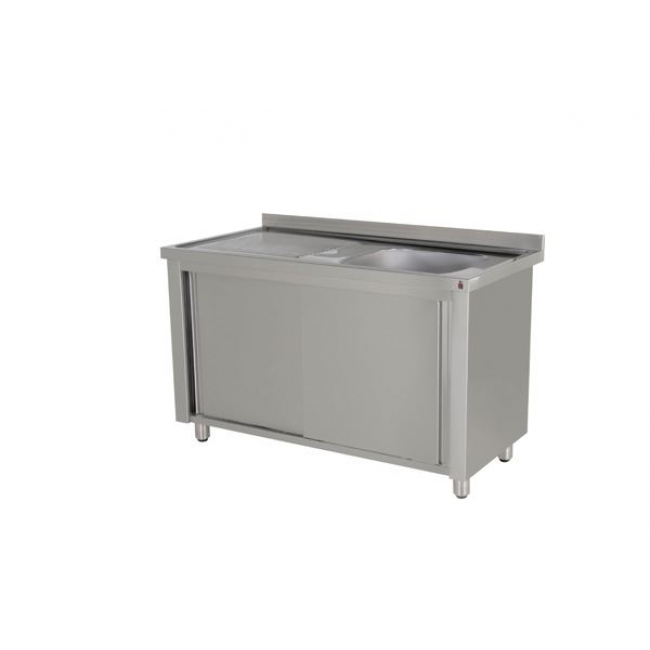 Food Service Sinks : Inomak LK5141 Single Bowl 1.4m Catering Sink on Cupboard - Catering ...