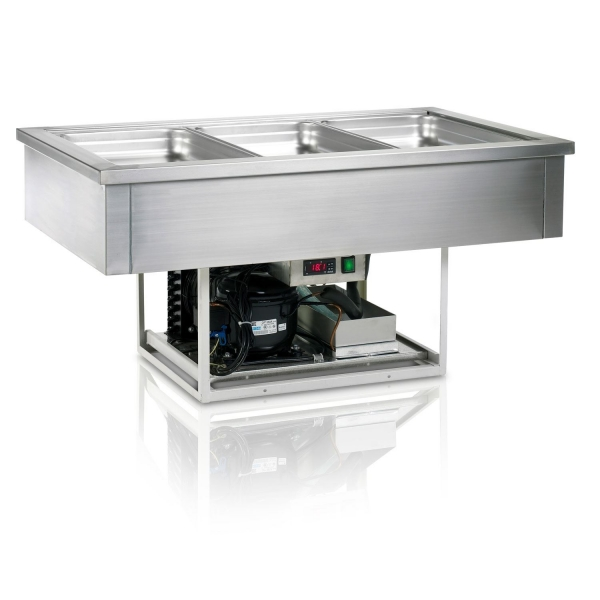 Tefcold CW3V Stainless Steel Buffet Display