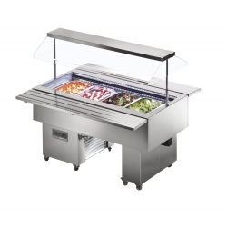 Tecfrigo ISOLA 6 VT SS Chilled 2m Buffet Display