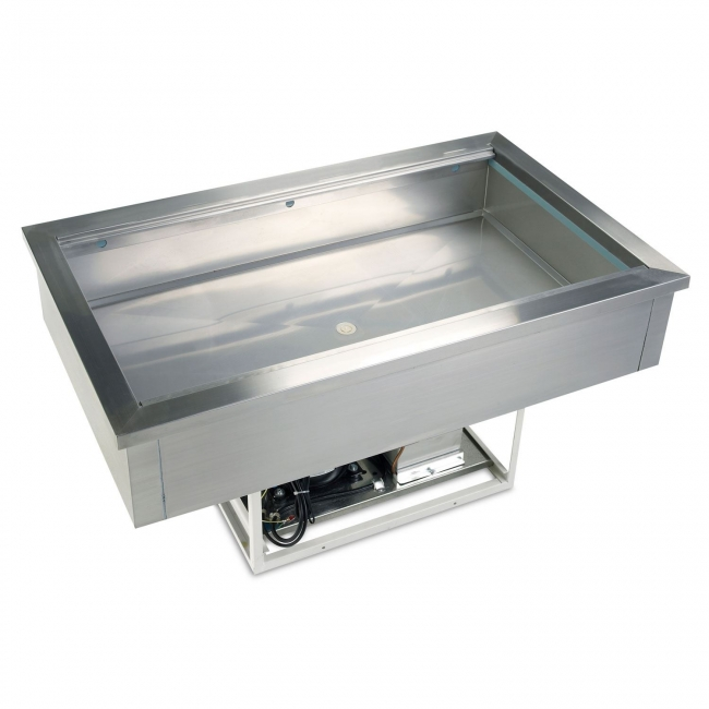 Tefcold cw3 stainless steel buffet display buffet for Sideboard 1m