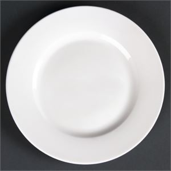 """Lumina Wide Rim Round Plates 7"""" 175mm"""