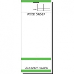 Bar Food Order Check Pad
