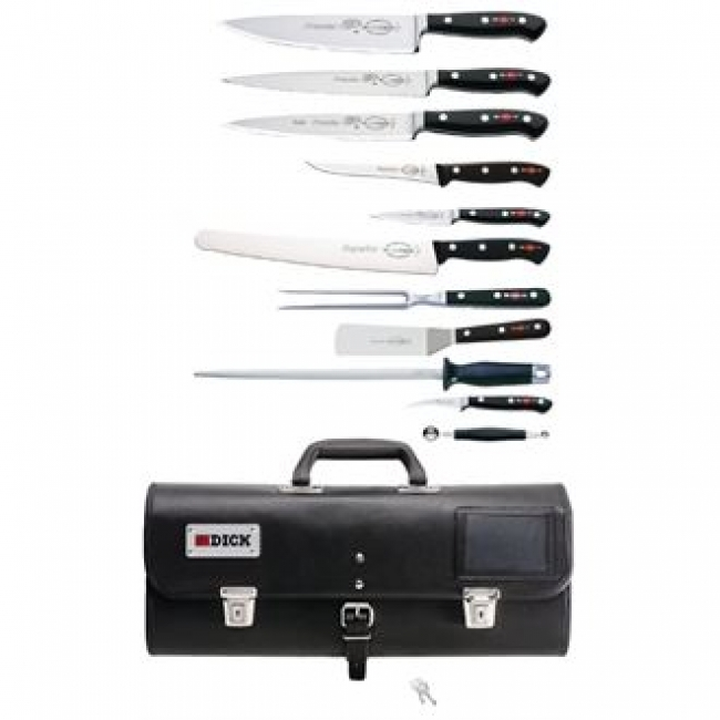 dick premier plus 11 piece knife set with roll bag. Black Bedroom Furniture Sets. Home Design Ideas