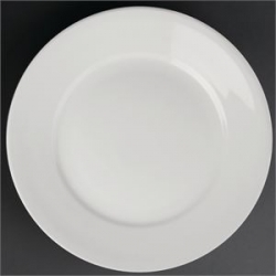 "Athena Hotelware 12 Pack CC208 9"" Wide Rimmed Plates"