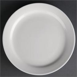 """Athena Hotelware 12 Pack CF362 8"""" Narrow Rimmed Plates"""