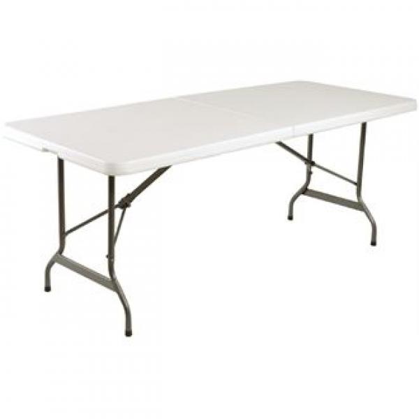 Bolero Centre Folding Utility Table 6ft in White