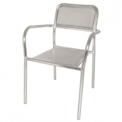 Bolero DP921 Aluminium Bistro Stacking Armchair (Pack of 4)