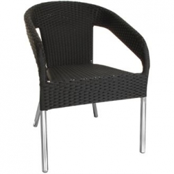 Bolero CG223 Wicker Wraparound Bistro Chair
