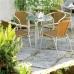 Bolero Aluminium & Natural Wicker Chair (Pack of 4)