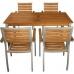 Bolero Y819 Teak and Aluminium Rectangular Table