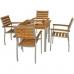 Bolero Y821 Teak and Aluminium Square Table