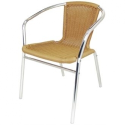 Bolero Aluminium & Wicker Chair (Pack of 4)