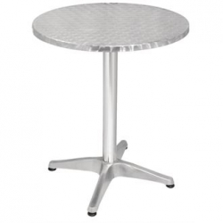 Bolero U426 Stainless Steel Round Pedestal Table