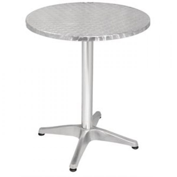 Bolero Stainless Steel Round Pedestal Table