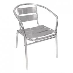 Bolero U419 Aluminium Stacking Chair (Pack of 4)