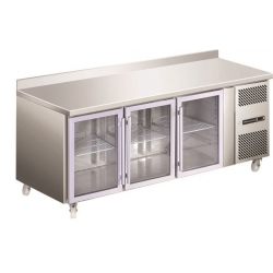 Blizzard HBC3CR Glass Door Fridge Counter