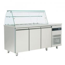 INOMAK ZQ 999 Triple Door Refrigerated Saladette Display