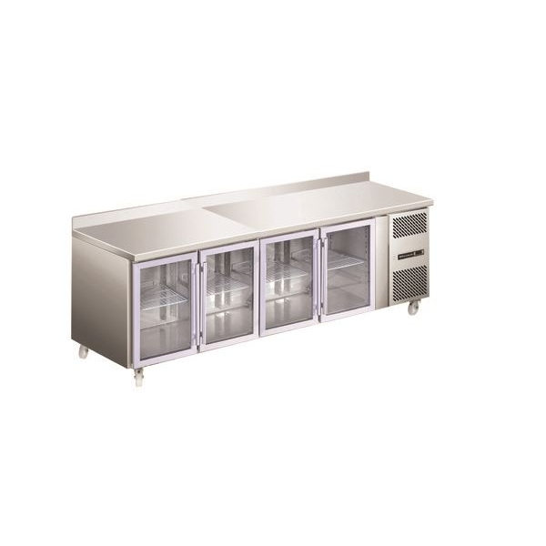 Blizzard HBC4CR Glass Door Fridge Counter Range