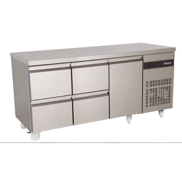 Inomak PN229 Fridge Counter with Drawers