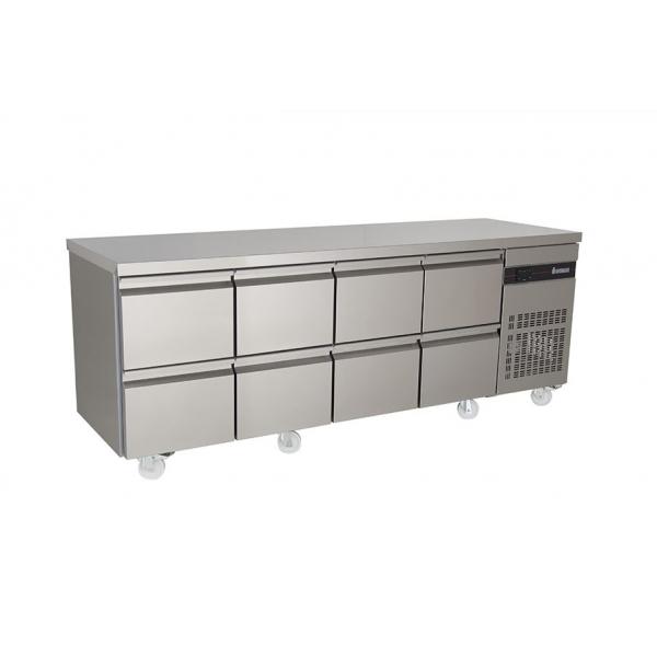 Inomak PN2222 2.2m Eight Drawers Fridge Counter