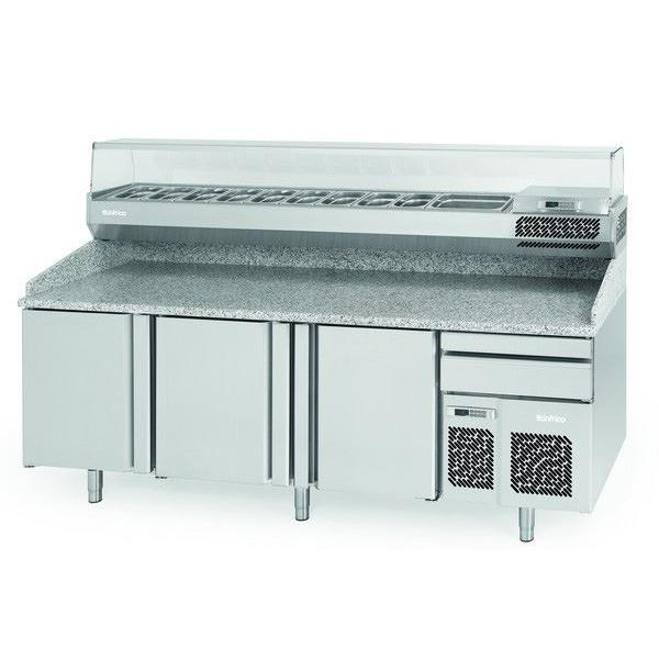 Infrico MP2300CRISTAL Pizza Counter