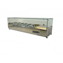 Blizzard TOP1500CR Glass Canopy 1.5m Counter Top Preparation Unit